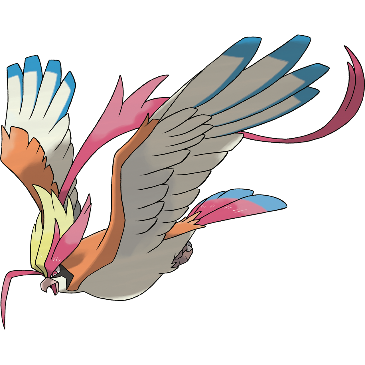 Mega Pidgeot Official Art