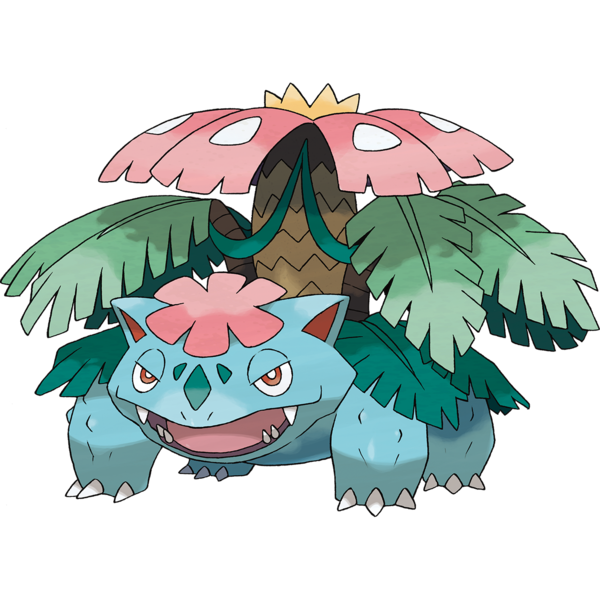 Mega Venusaur Official Art