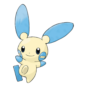 Minun Official Artwork