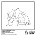 Terrakion Coloring Sheet by LEGENDS Lima