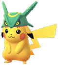 Costume Pikachu with Rayquaza Hat