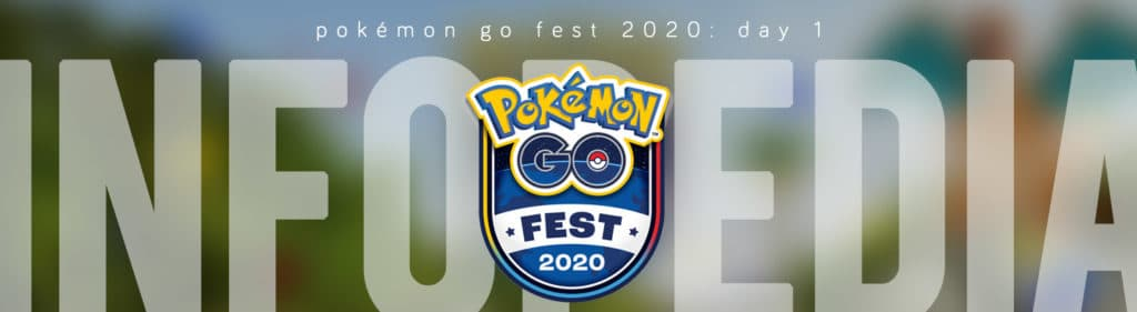 G2G's Pokémon GO Fest 2020: Day 1 Infopedia Header